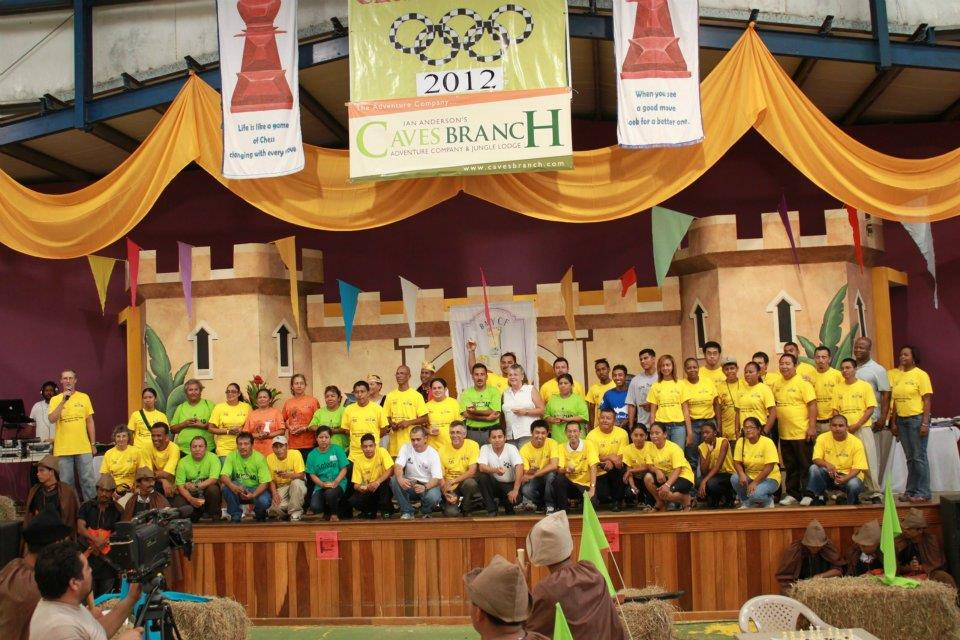 Caves Branch sponsors the 2012 Belize National Chess Olympiad